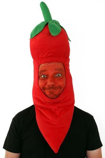 Grappig hete rodepeper hoofd