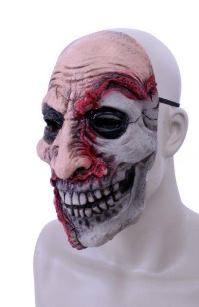 Horrormasker latex half dood