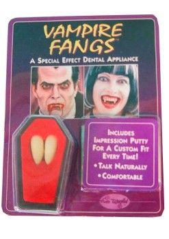 Halloween Vampiertanden 2 stuks in lijkenkist