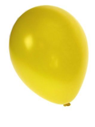 Kwaliteitsballon metallic geel