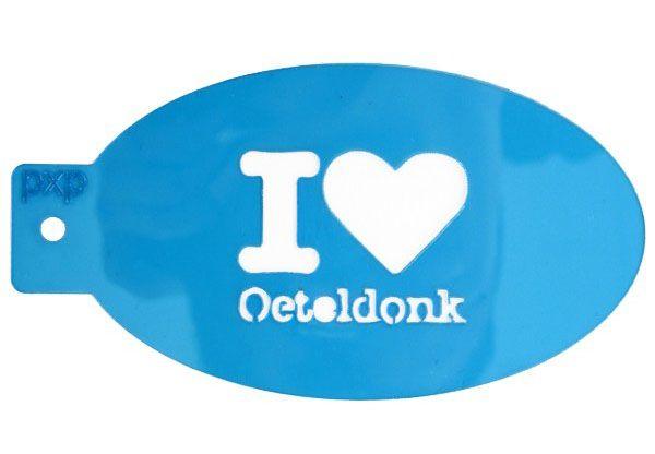 PXP schminksjabloon I love Oeteldonk