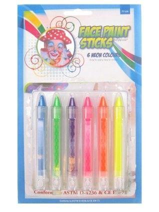 PXP schminkstiften 6 neon kleuren