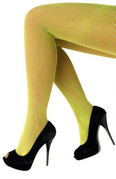 Netpanty fluor geel