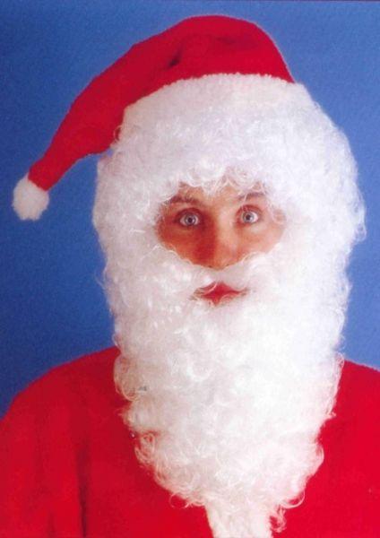 Kerstman baard set wit Kerstmis