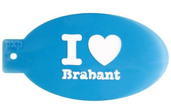 PXP schminksjabloon I love Brabant