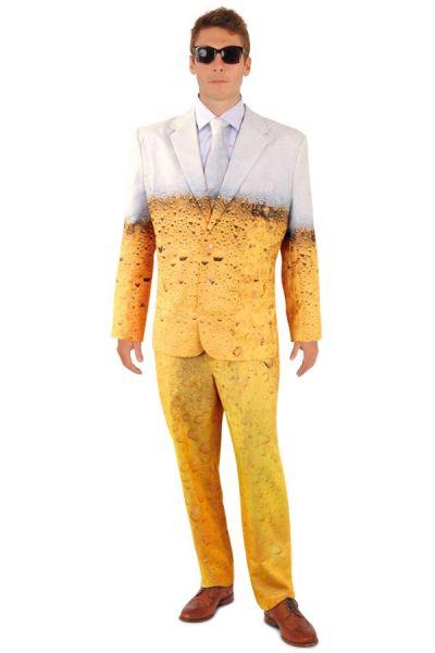 Vrijgezellenfeest outfit Bier smoking kostuum