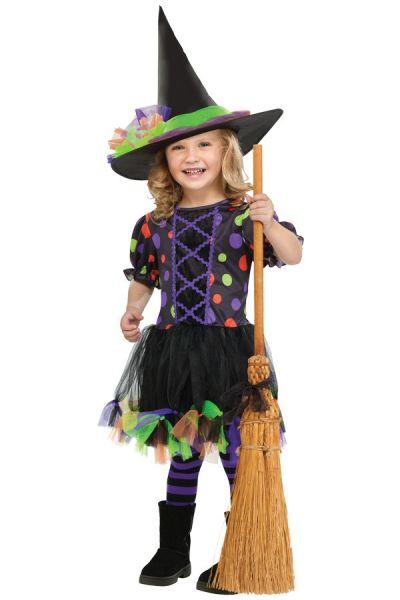 Heks Polka Dot Witch meisjes jurkje