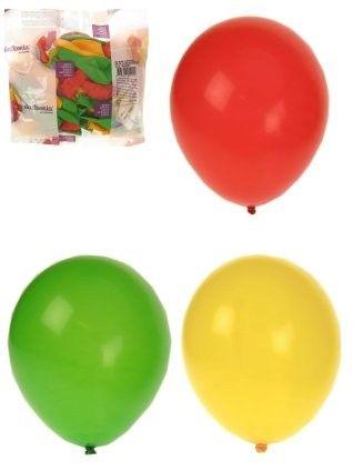Carnavalsballonnen helium rood geel groen