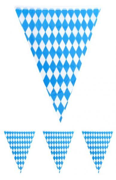 Vlaggenlijn Oktoberfest Bayern blauw wit 10m