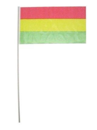 Carnaval Vlaggetjes op stok rood geel groen