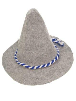 Oktoberfest Bayern hoed grijs 6 stuks