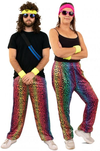 Hippie Trainingsbroek neon panterprint