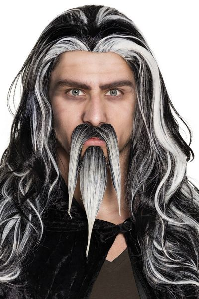 Sik met snor grijs wizard