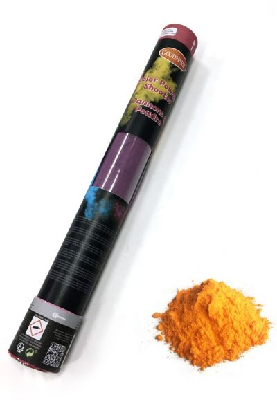 Color Powder Shooter 40 cm oranje 350 gram OUTDOOR