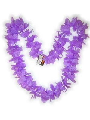 Hawaii halsketting paars kransen 12 stuks