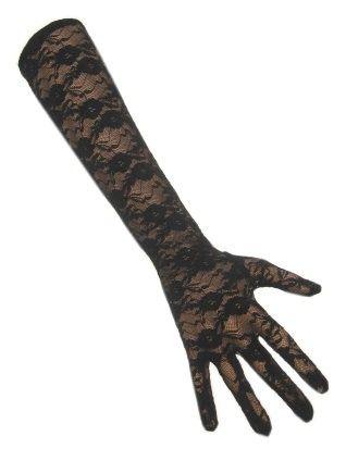 Handschoen kant lang zwart
