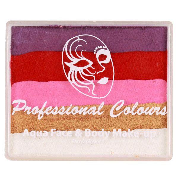 PXP splitcake Violet rood roze parel goud wit