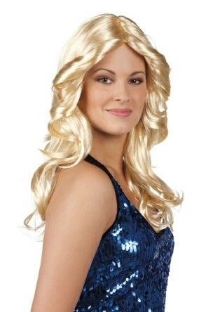 Pruik Disco Doll blond