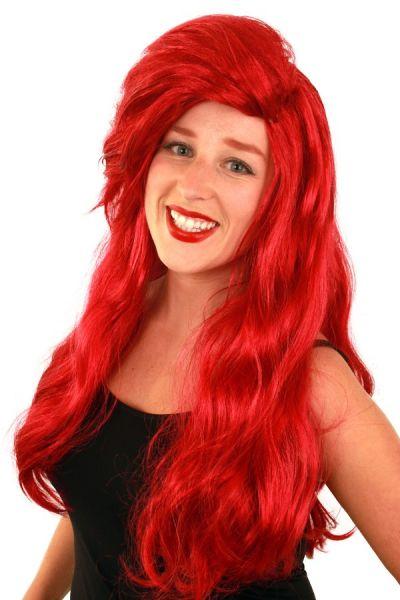 Pruik luxe rood lang Ariel