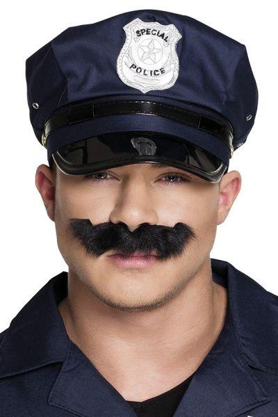 Politie Snor zwart