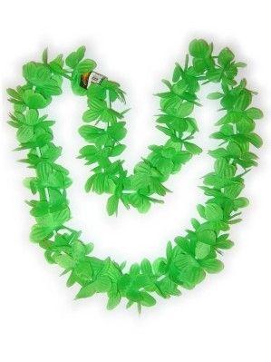 Hawaii halsketting groen kransen 12 stuks