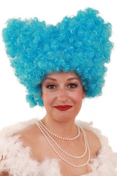 Grappige pruik Lucy blauw
