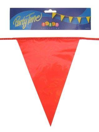 Vlaggenlijn rood 50m feestversiering