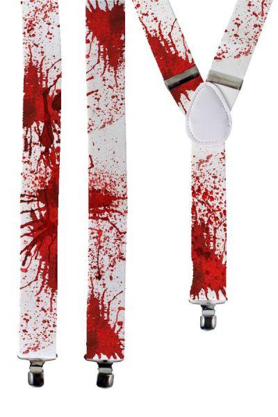 Halloween Bretel wit met bloed